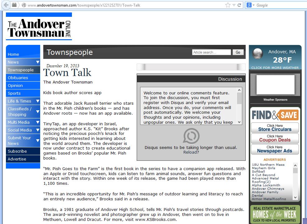 andover townsman 121913