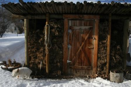 Kootenai Brown mud house